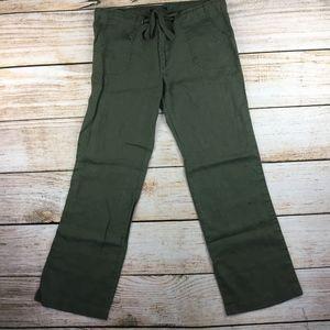 olive green Sanctuary Beach comber linen pants 31